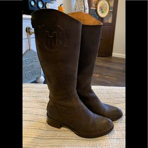 COPY - HUNTER Italian brown leather riding boots …
